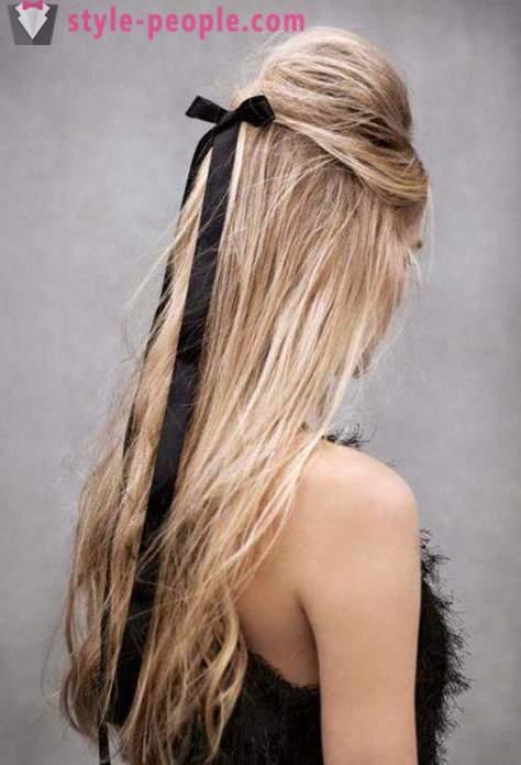 Piękne Fryzury Wstążkami We Włosach